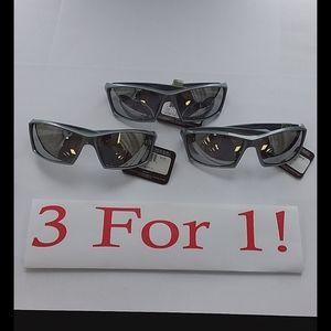 NWT Panama Jack Grey Rectangle Sunglasses